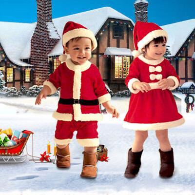 Weihnachten Kostüme Kinder Mädchen Jungen Weihnachtsmann Set Kostüm - Weihnachtsmann Kostüm Kinder