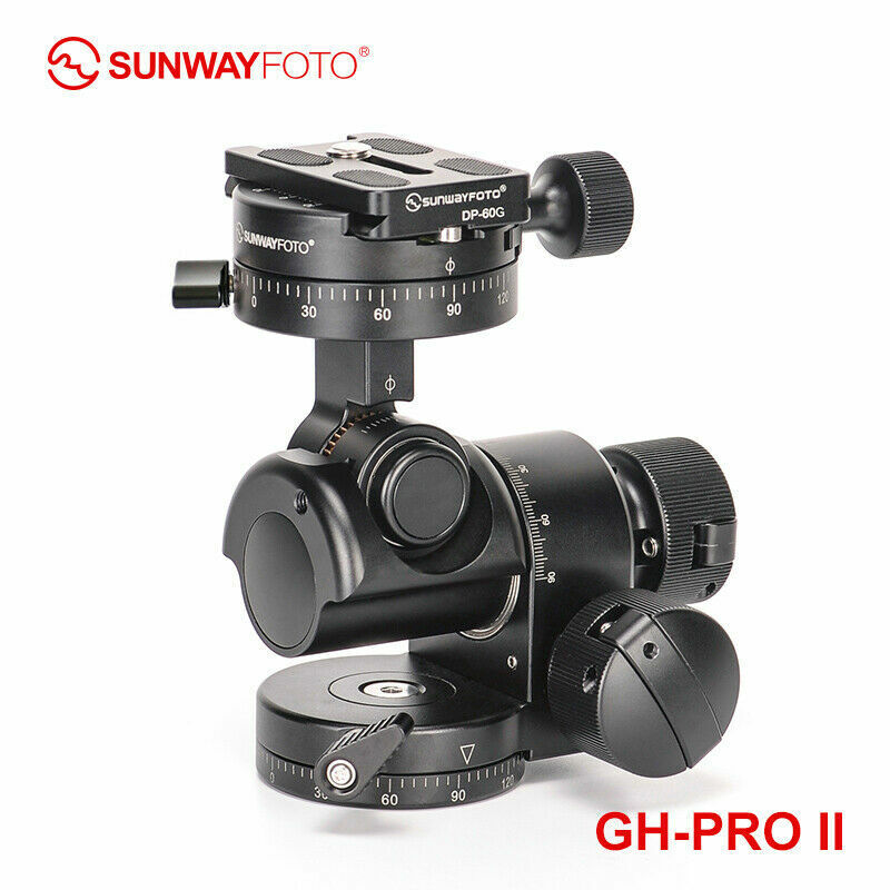 SunwayFoto GH-PRO II Geared Head Professional Panoramic Tripod Head DSLR Camera