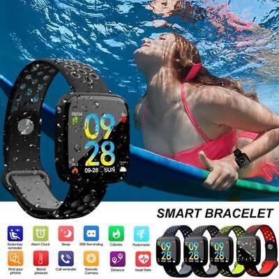 Bluetooth Smart Watch Heart Rate Blood Pressure Monitor Sports Swimming Bracelet