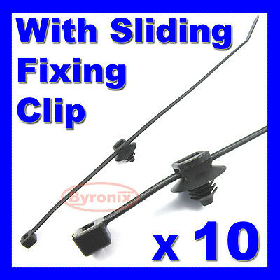 CABLE TIES KIT CAR BOAT TRAILER ZIP TIE WRAP CLIP WIRING LOOM HARNESS 200 x 4.6