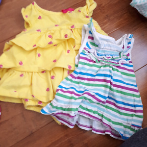 Girls 0-3 summer lot..great used condition; 16 items