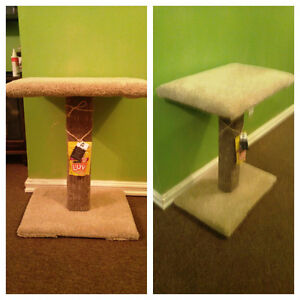 Kitty Scratching Post w Top Plush Perch/Bed
