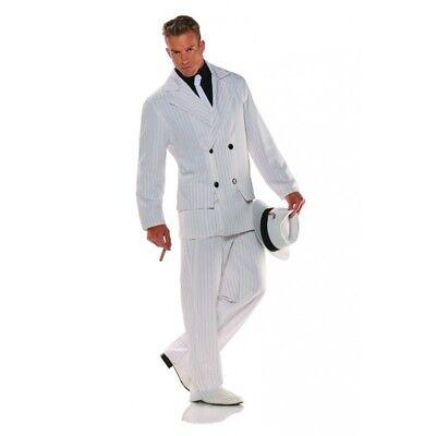 20's Smooth Criminal Gangster Costume Suit Mobster Adult Men Pin Stripes Std-XXL](Smooth Criminal Costume)