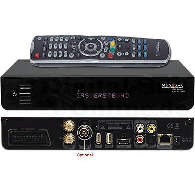 ► Medialink Black Panther 1x Card 1x CI PLUS COMBO DVB S2 HD LAN USB