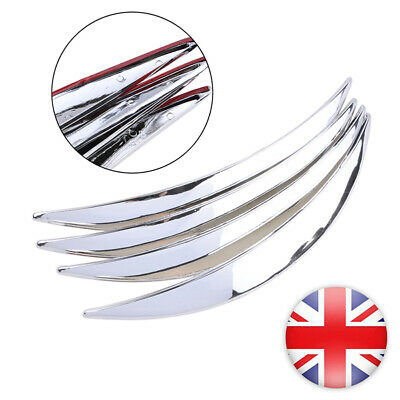 Universal Car Wheel Eyebrow Protector Arch Trim Flare Fender Strip Chrome Auto