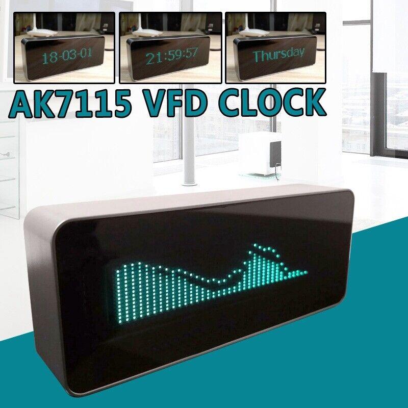 Aluminum Case AK7115 VFD Clock / Audio VU Meter / Music Spectrum / DB Indicator