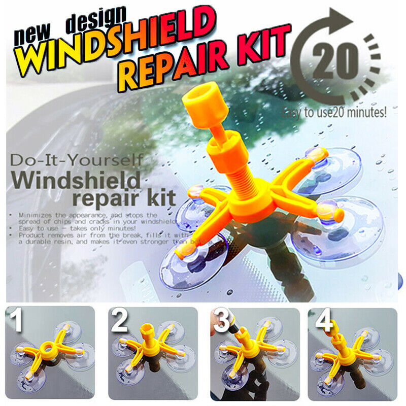 Professional Quality Windshield Repair Kit Glass Corrector Set