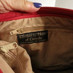 Leather Red Purse Handbag Bag by Leather by Mann Kitchener / Waterloo Kitchener Area image 4