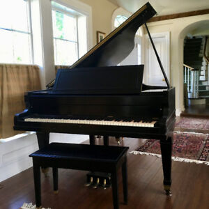 Classic 6-Foot Ebony Parlour Grand Piano