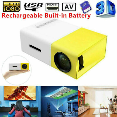 Portable Rechargeable Pocket Mini LED Projector 3D HD 1080P Home Cinema HDMI