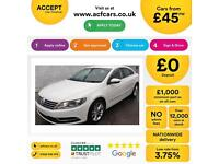 Volkswagen CC 2.0TDI ( 140ps ) BMT 2012MY CC FROM £45 PER WEEK!