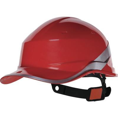 Delta Plus DIAMOND V ABS Red Baseball Style Safety Work Helmet Hard Hats