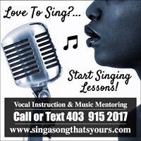 Singing Lessons For The New Year!