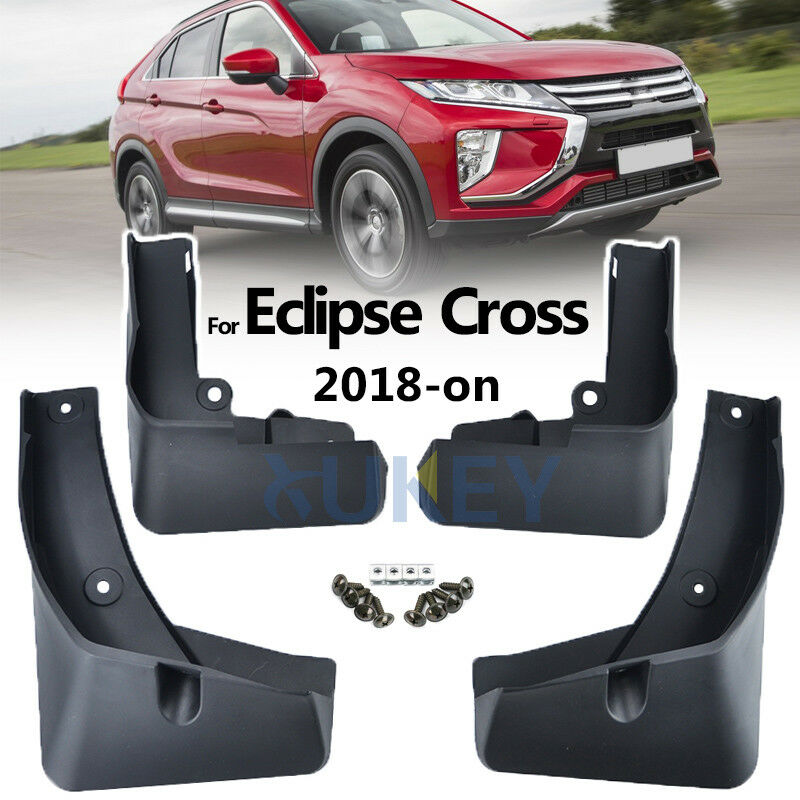 Car Custom Mud Flaps Splash Guards for Mitsubishi Eclipse Cross 2018 2019 Fender Flares Mudflaps Mudguards Front and Rear Wheel 4Pcs red
