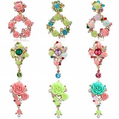 Fashion Crystal Rhinestone Flower Wedding Bridal Bouquet Brooch Pin Jewelry Gift