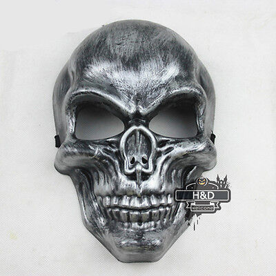Silver MediEvil Dress Halloween Mask Plastic Masquerade Costume Fancy Ball - Medievil Dresses