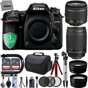 Nikon D7500 20.9MP 4K DSLR Camera w/ 4 Lens - 64 GB Storage