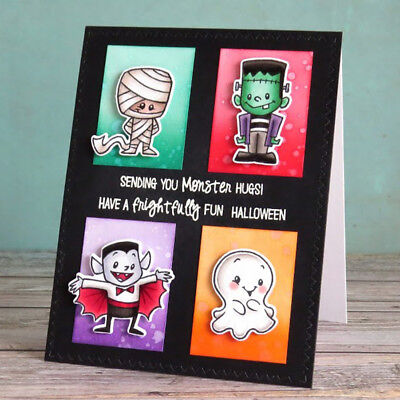 Monster Mash Halloween Transparent Clear Silicone Stamp Seal DIY Scrapbooking