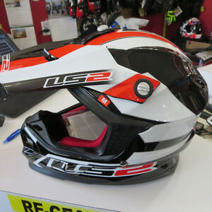 LS2 MX Motocross Dirt Bike Helmet w Pump System Brand New