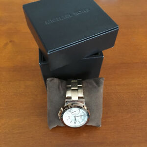 Rose gold Michael Kors watch, great shape, with original box