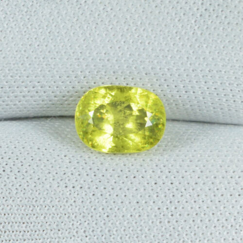 1.45 ct EXTREME RARE GREEN  MULTI SPARKLING NATURAL SPHENE Oval  See Vdo 0751 RC