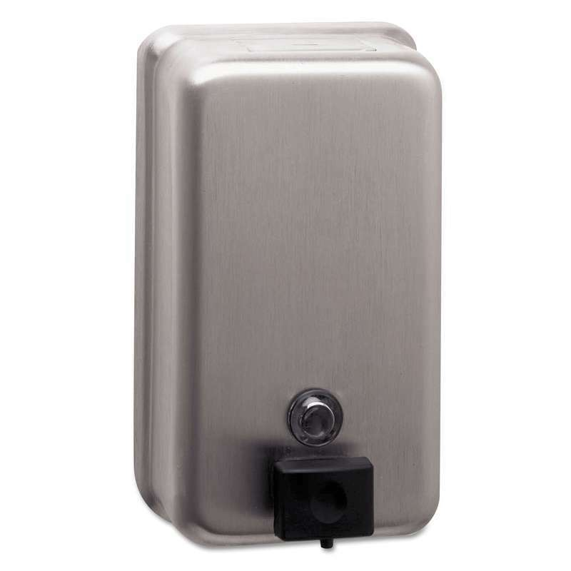 Bobrick ClassicSeries Surface-Mounted Soap Dispenser, 40oz, Stain 716954000385