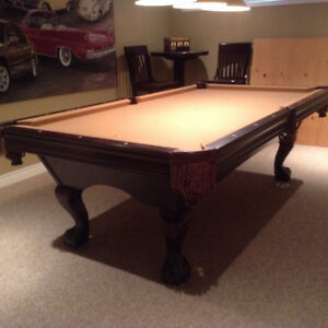 For Sale Brunswick Pool Table and Brunswick Pub Set