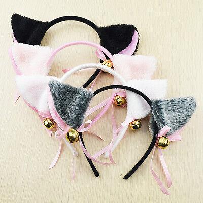 Cat Fox Ears Headband Costume Fur Anime Neko Cosplay Hair Clip Party Halloween R (Neko Halloween Costumes)