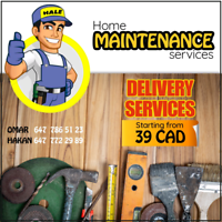 Delivery, moving ,junk removal starting 39$