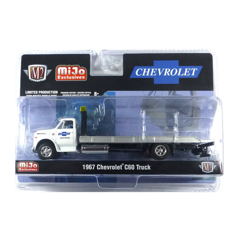 M2 Machines 39100-MJS01 Chevrolet C60 Tow Truck White Scale 1:64 New !°