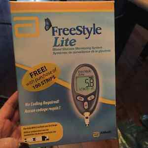 Freestyle Lite glucose-blood sugar tester and more... See ad