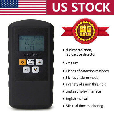 Nuclear Radiation Detector Beta Gamma X-ray Geiger Counter Real Time Monitor Usa