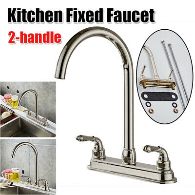 Double Handle Kitchen Fixed Basin Sink Mixer Tap Pure Water Spout Filter Faucet Double Handle Kitchen Tap