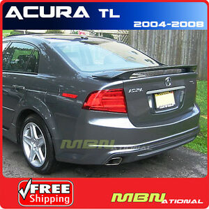 04 08 acura tl 4dr sedan rear trunk tail wing spoiler. Black Bedroom Furniture Sets. Home Design Ideas