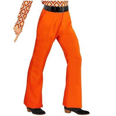 70er Jahre Schlaghose orange Herren Kostüm Disco Schlager Motto Party Gr. 48-56