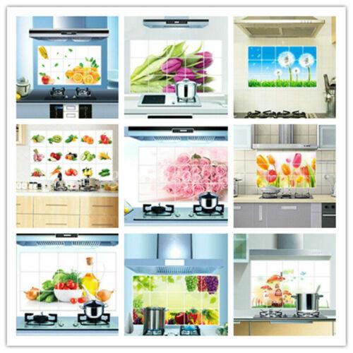 Home Decoration - Home Decor Kitchen Waterproof Bathroom DIY Wall Sticker Oil Proof Foil 45*75cm