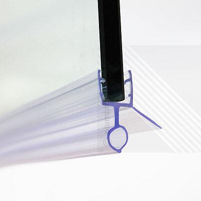 Bath Shower Screen Door Seal Strip   Glass Thickness 6mm - 8mm   Seals Gap 10mm