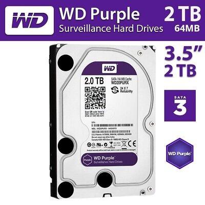 WD Purple 2TB Surveillance Hard Disk 5400 RPM Class SATA 6 Gb 64MB 3.5 Inch DVR