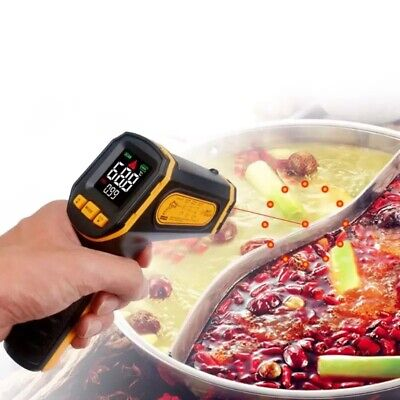 Digital Infrared Ir Food Cooking Meat Bbq Thermometer Temperature Laser Gun
