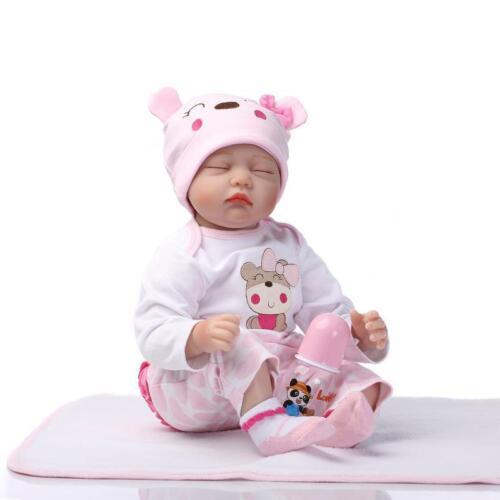 "22"" Handmade Lifelike Baby Girl Doll Silicone Realistic Reborn Doll"