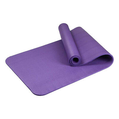 Purple 10mm Yoga Mat Gym Exercise Thick Fitness Physio Pilates Soft Mats Workout