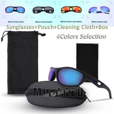 TR90 UV400 Outdoor Shades Women Mens TAC HD Polarized Sunglasses + Cloth & Box