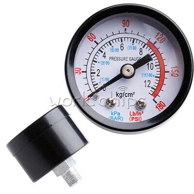 Black 1/8 BSP Male Thread 0-12Kg/cm2 0-180PSI Air Compressor Box Pressure Gauge