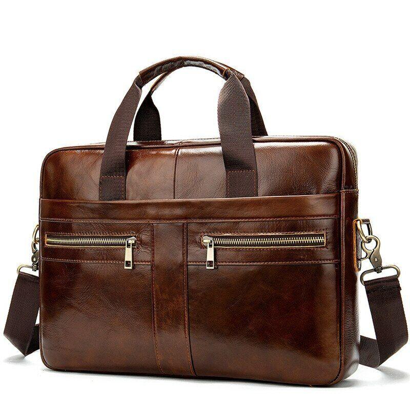 Men Briefcase Bag Business Leather Shoulder Messenger Bag Office Handbag15 inch Bags