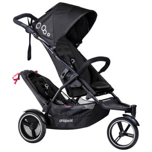 Brand New phil & teds Dot Stroller w/ Doubles Kit - Black