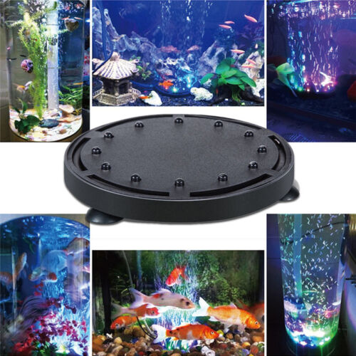 Submersible colorful 12led aquarium fish tank air bubble for Connecting fish tanks