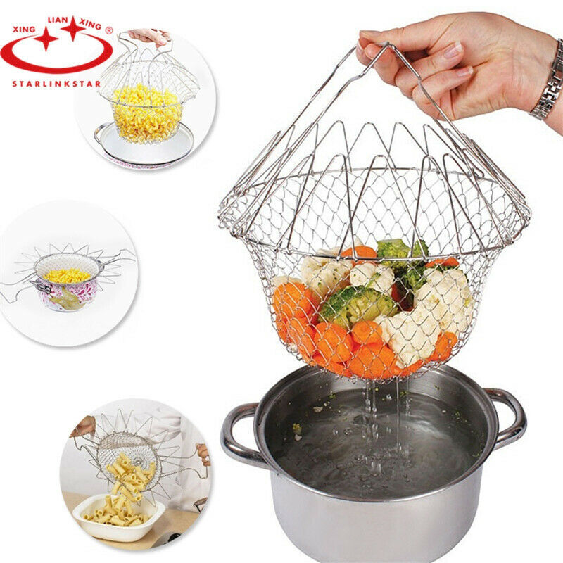Frying Net Round Basket Strainer French Fries Deep Fryer Kit