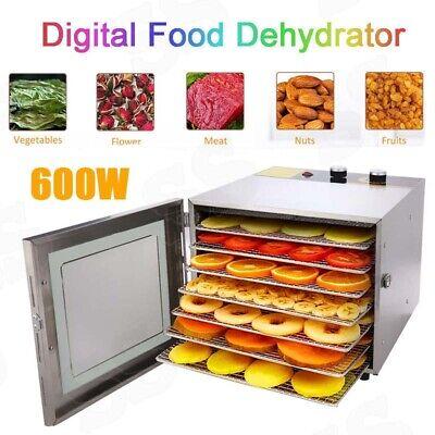 8 Tray Electric Food Dehydrator Machine Beef Jerky Snack Fruit Dryer Meat Maker Beef Jerky Maker