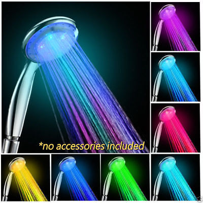 NEW Colorful Head Home Bathroom 7 Colors Changing LED Shower Water Glow Light