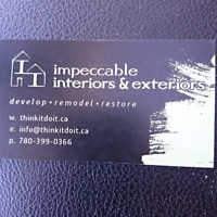 IMPECCABLE INTERIORS & EXTERIORS OFFER/PROMOTION /CHARITY